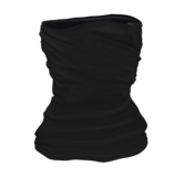Solid Black - Neck Gaiter